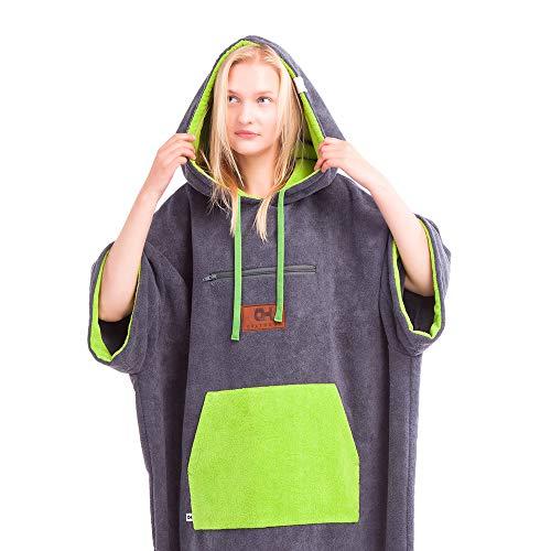 CULTHOOD Wickeltuch Poncho mit Tasche - Ändern Sie mit Stil Ihre Surf-und Badeanzug/Kleidung in der Öffentlichkeit - viele Farben - Größe für Erwachsene die von Wakeboarding Champions anerkannt sind