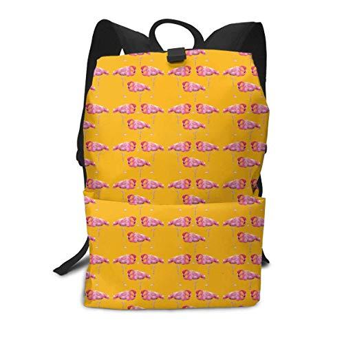 Homebe Scolaire Sac Sac à Dos Cartable for Boys and Girls,Lovely Flamingo Printed Primary Junior High School Bag Bookbag