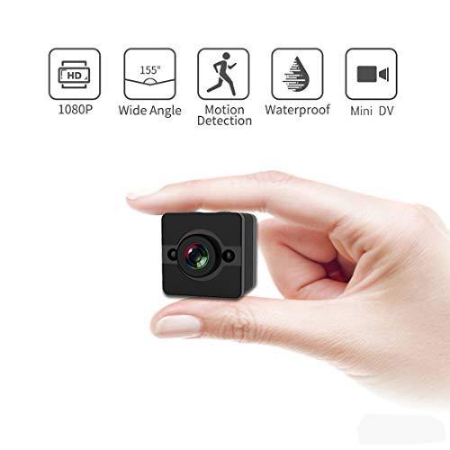 Mini cámara de video de acción deportiva, cámara inalámbrica mini espía con visión nocturna y detección de movimiento, para el hogar, oficina, esquí / montañería / deportes al aire libre o submarinos
