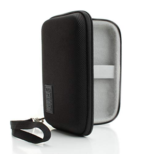 USA GEAR Hard Shell Pocket Microscope Case - Handheld Microscope Hard Case with Water Resistant Exterior and Large Accessory Pocket Compatible with Carson MicroBrite Plus LED Lighted Pocket Microscope