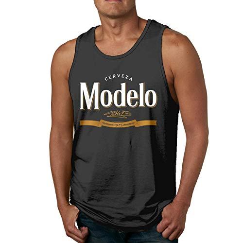 Modelo Beer Mans Camisa sin Mangas de algodón para Hombre, usada por Fuera o por Dentro