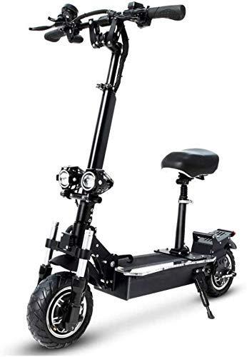 CDGC Scooters para Adultos Movimiento Deslizante Scooters eléctricos Adultos 2400W Motor Velocidad máxima 75Km / H Doble tracción 10.5 Pulgadas Off-Road CST Neumático Plegable para Desplazamiento