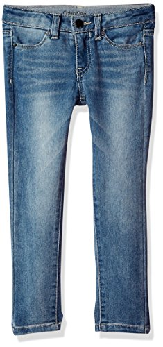Calvin Klein Big Girls' Ultimate Jean, Skinny Frost, 14