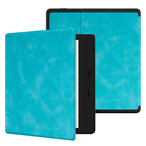 Ayotu Skin Touch Feeling Case for All-New Kindle Oasis(10th Gen, 2019 Release & 9th Gen, 2017 Release),with Auto Wake Sleep,New Waterproof 7  Kindle Oasis Cover,Soft Shell Series KO Sky Blue