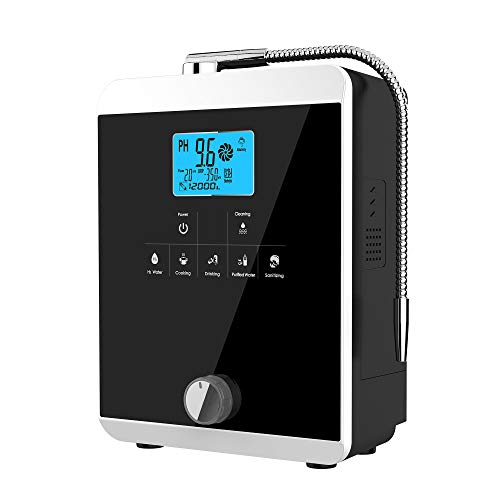 Water Ionizer and Water Purifier Machine,PH 3-11 Alkaline Acid Water Machine,Up to -800mV ORP, 8000 Liters Per Filter,11 Plate Electrode,Regulation Valve to Control PH and ORP/Auto-Cleaning