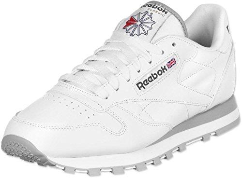 Reebok Schuhe Classic Leather White-Light Grey (2214) 46 Weiss