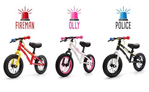 meteor Bicicleta sin Pedales para Niños 2-6 años hasta 30 kg Ultraligera Mini Bici Bebés Infantil Andadores Bebé Equilibrio con Sillín y Manilar Regulable Ruedas bombeadas First Bike (niño, Police)