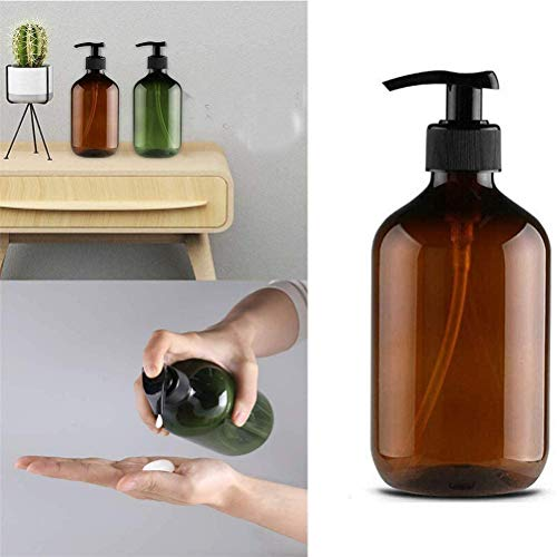 Fliyy - Dispensador de jabón de Manos vacío, sin BPA, Respetuoso con el Medio Ambiente, dispensadores de baño, Accesorios de Lavado, líquido Recargable para Viajes en casa, marrón, marrón