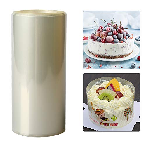 Kuchen Kragen, 10cm*10m Transparent Backen Kuchen Umlaufende Kante Wickelband Verpackung Blatt Dekor Tortenrandfolie Rolle Dessertringe