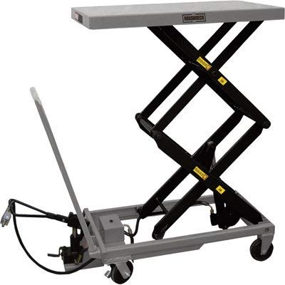 Roughneck Air/Hydraulic Lift Table Cart - 770-Lb. Capacity