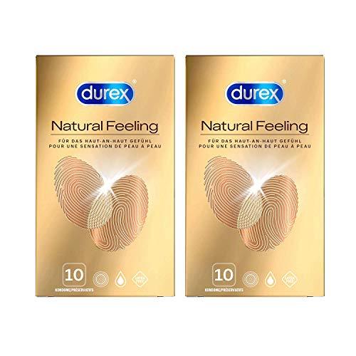Kondome latexfrei für ein natürliches Haut an Haut Gefühl Durex Natural Feeling 20 Stück