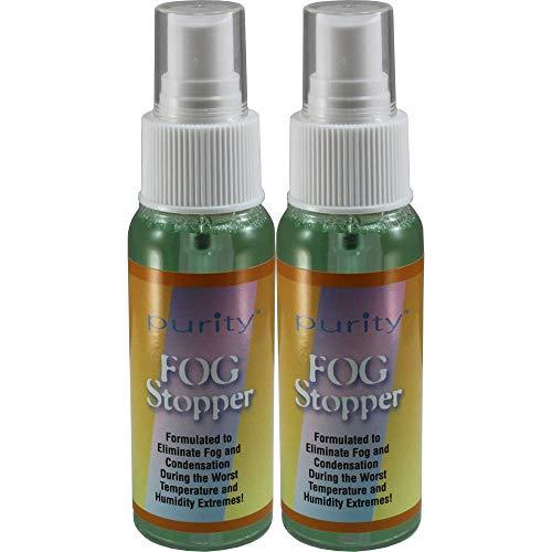 Two 2oz Bottles of Birdz Eyewear Anti Fog Spray + Defogger for Glasses Goggles + All Lenses