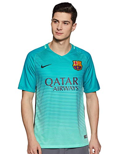 Nike Herren FC Barcelona Dry Stadium Jersey SS 3R Fußballtrikot, Grünes Glühen/Energy/Schwarz, XL