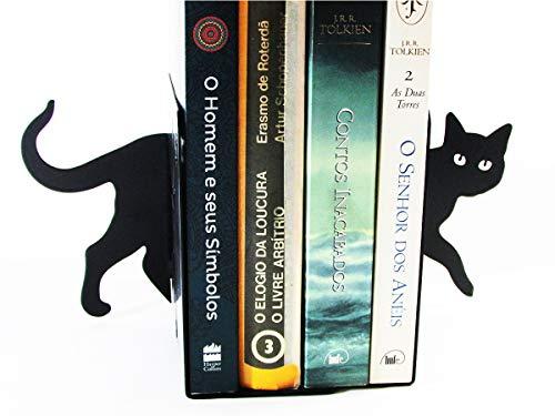 Suporte Aparador de Livros CDS DVDs Gatinho Curioso Peculiartes