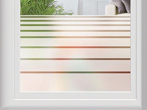 MELINERA® Fenster-Sichtschutzfolie, selbsthaftend - ohne Klebstoff - 67 x 200 cm (Streifen)
