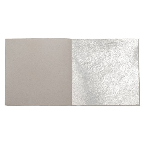 50 Blatt Echtes Blattsilber 5 x 5 cm Echt Silber 925