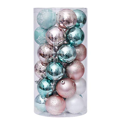 Fujiang 1 Set 6cm/30 Pcs Christmas Balls Ornaments Party Wedding Xmas Tree Hanging Decor