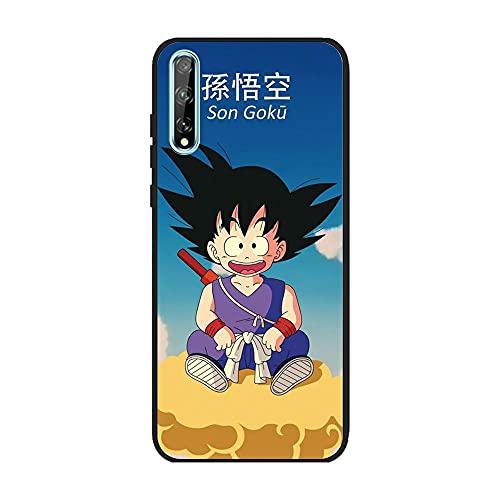 RLKONAN Funda de TPU para HUAWEI P inteligente S-Dragon-Ball Super-Goku 2 de gel suave de cristal negro