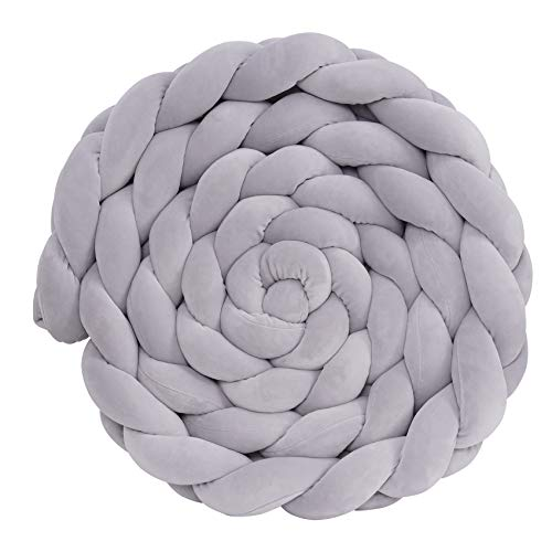Crisschirs Cushion Soft Knot Pillow Handmade Soft Cushion Decor for Bedroom (Gray)