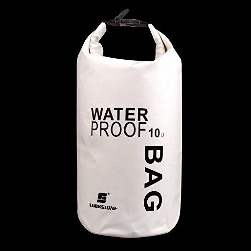 harayaa 10L / 15L Dry Bag Storage Bag for Travel Rafting Sailing Kayak - White