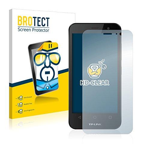 BROTECT Schutzfolie kompatibel mit TP-Link Neffos Y50 (2 Stück) klare Bildschirmschutz-Folie