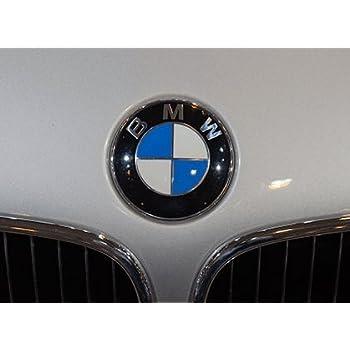 2 Pcs 82mm Emblemi Emblema Emblem Ricambio Logo Cappuccio Anteriore Cofano Posteriore Baule Auto per BM W Serie