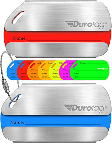 Durotag Luggage Tags Personalized Custom Stainless Steel Travel Bag Tag ID...