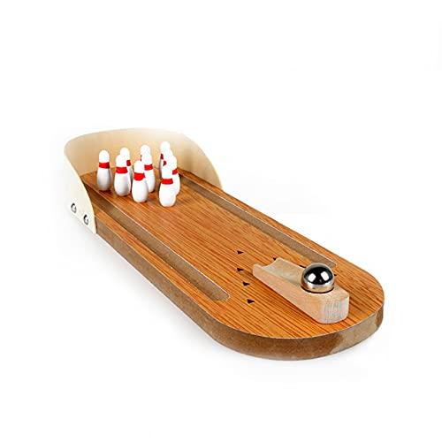 Kinder Pädagogisches Spielzeug Holz Mini Bowling Ball Interaktion Spiel Dekompression Kreative Board Spiel Spielzeug Geburtstagsfeier Geschenk für Jungen Mädchen 6.8 (Color : MN)