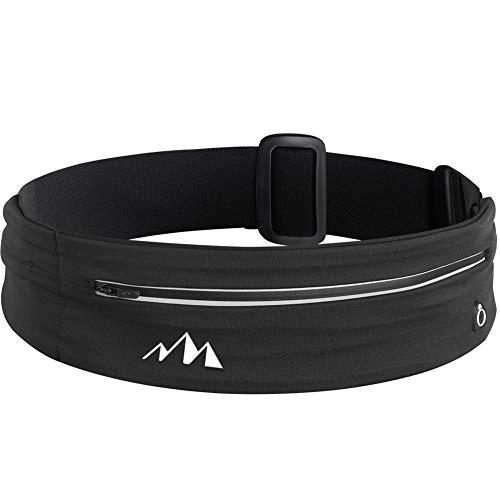 LMLALML Cinturón de correr, adecuado para correr, ciclismo, esquí, deportes al aire libre, con diseño de rayas reflectantes.