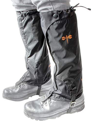 Bro-tect Gamaschen Mittel | schwarz Unisex - wasserdicht mit reißverschluss & Klettverschluss | Robust Outdoor-Gaiters zum Wandern, jagen,Bergsteigen & Trekking | schützt Schuh und Bein.
