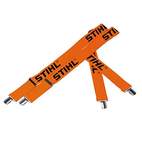 Stihl Hosenträger f. Bundhosen mit Metallklips, Orange, 130 cm