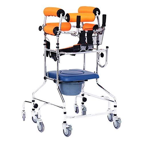 Klappbarer Rollator Walker mit Sitz und Unterarmstütze Armlehnen Höhenverstellbar Stehender Walker Limit Mobile Assist 8-Rad-Nachttoilette