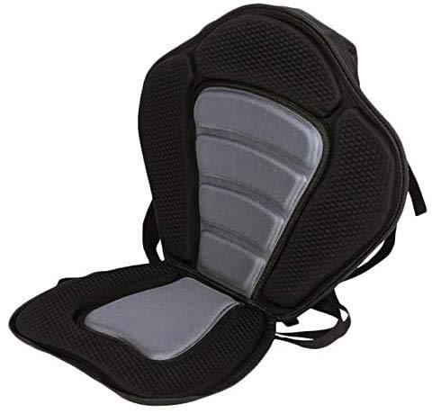 Moligh doll Verstellbarer Gepolsterter Kanu-Kajak-Sitz Kajak-R¨¹Ckenlehnen-Sitz mit Rucksack-Ruhetasche