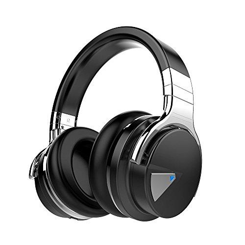 Cowin E7 Auriculares inalámbricos Bluetooth con Bajos Profundos, 30 Horas de Tiempo de Juego para Viajes (Negro)