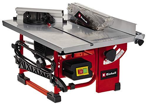 Einhell Sierra circular de mesa TC-TS 200 (máx. 800 W, motor de inducción de bajo mantenimiento, Ø200 x ø16 mm hoja, tope en ángulo (+/- 60°), hoja de la sierra puede inclinarse 45°)