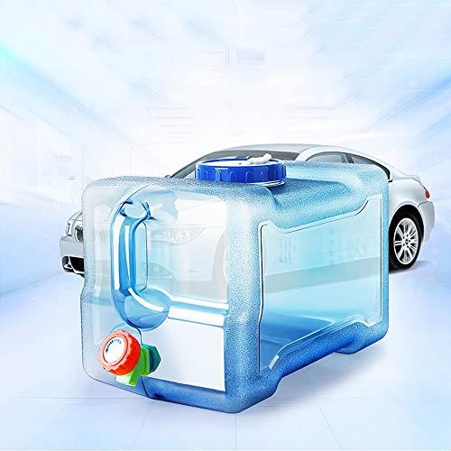 YUDEYU Gros Calibre Robinet Seau De Stockage D'eau Portable Pas Peur De Chaud Voiture Source Minérale Réservoir D'eau En Mouvement Récipient (Color : 12 L)