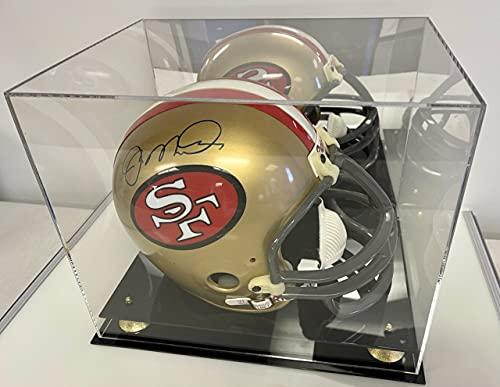 Helmet Display Case Football Helmet Acrylic Case Full Size Helmet Case Black Acrylic Base Gold Risers Mirror P368
