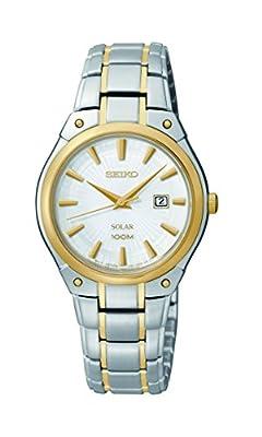 Seiko Women's SUT128 Dress Solar Analog Display Japanese Quartz Two Tone Watch