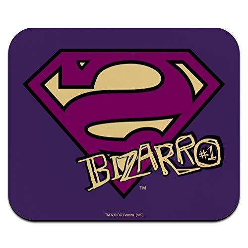Superman Bizarro Shield Logo Low Profile Thin Mouse Pad Mousepad