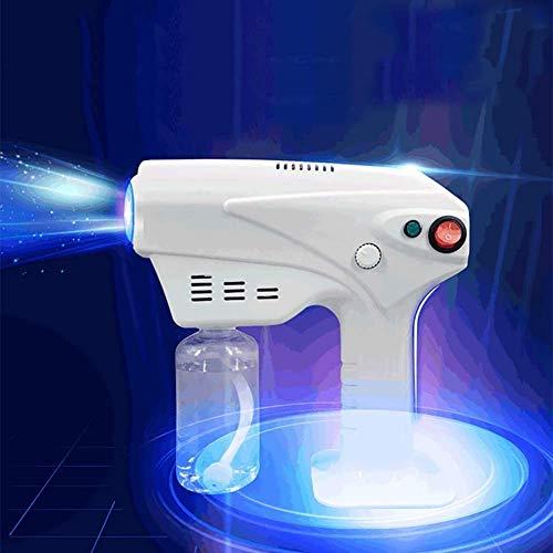 BATOWE Spruzzatore Elettrico Portatile Fogger spruzzatore, purifica spruzzatore della Pistola, Ricaricabile Nano Blu Disinfezione Pistola, Usato in Hotel for Famiglie e scuole