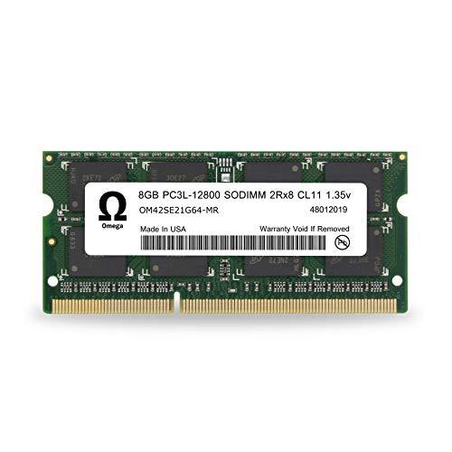 Adamanta Omega 8GB (1x8GB) Laptop Memory Upgrade DDR3/DDR3L 1600Mhz PC3L-12800 SODIMM 2Rx8 CL11 1.35v Notebook RAM DRAM