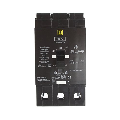 SCHNEIDER ELECTRIC EDB34030 Miniature Circuit Breaker 480Y/277-Volt 30-Amp Electrical Box