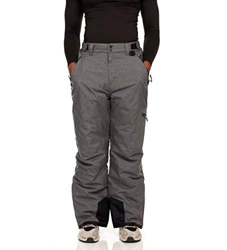 Arctic Quest Mens Ski Pant, Grey Heather - Large