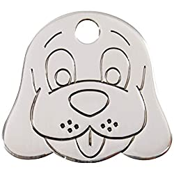 Guaranteed for the life of the dog. Free Engraving service The worlds best dog tag Made from solid stainless steel. Please contact us with your engaving details once ordered i.e BARNIE, TEL: 07966, CHIPPED etc