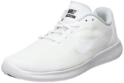 Nike Kinder und Jugendliche Free Rn 2017 (gs) Laufschuhe, Mehrfarbig (White/White/Black/Pure Platinum), 36.5 EU