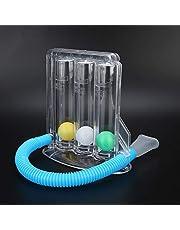 Incentivador para gimnasia respiratoria, ejercicio respiratorio para pulmones, 3 bolas Spirometer, gimnasia respiratoria, excelente tratamiento para asma, bronquitis, fibrosis quirúrgica