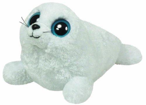 TY 7136080 7136080-Iceberg-Robbe weiß, 15 cm, Beanie Boos