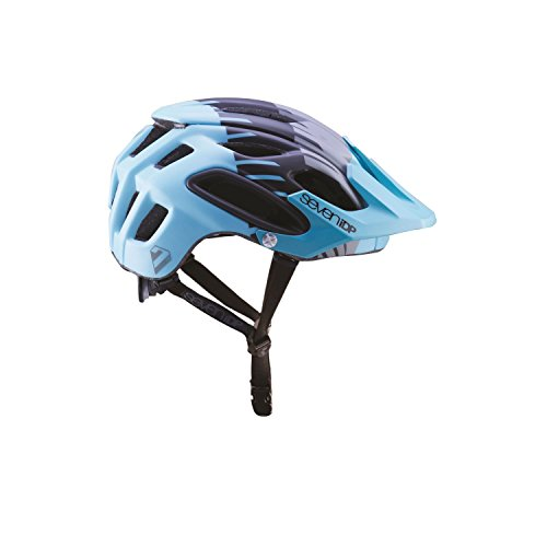 7 Protection 7iDP 2018 M2 Mountain Cycling Helmet - 7707 (MATT Teal/Grey/Black - M/L)
