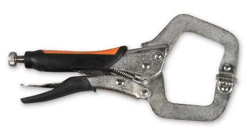 Hobart 770560 Locking C-Clamp Pliers with Rubber Grip, 6-Inch