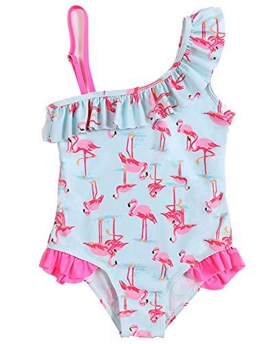 HANHOU Badeanzug Badeanzug Mädchen Kinder Badebekleidung Kinder Off Shoulder Badeanzug Beach Wear Pool Urlaub Schwimmoutfit Rock F Set,F-XL